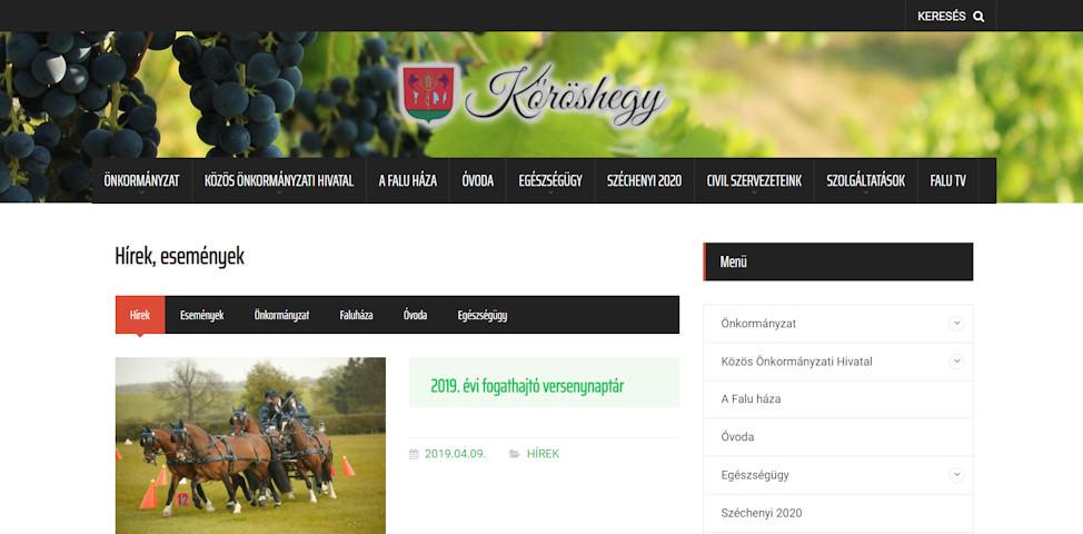 weboldal karbantartás szerkesztés készítés