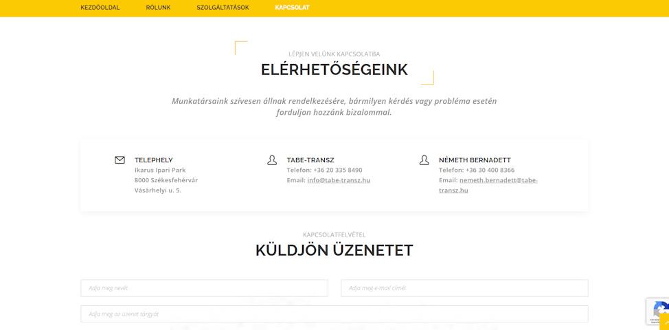 weboldal karbantartás szerkesztés honlap készítés